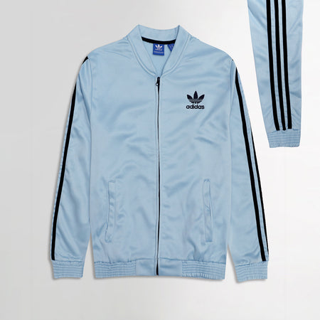 AD Sports Tri Striped Embroidery Zipper Bomber Jacket (AD-2162)