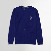 USP Royal Men Button up Fleece Cardigan With Signature Embroidery (US-10176)