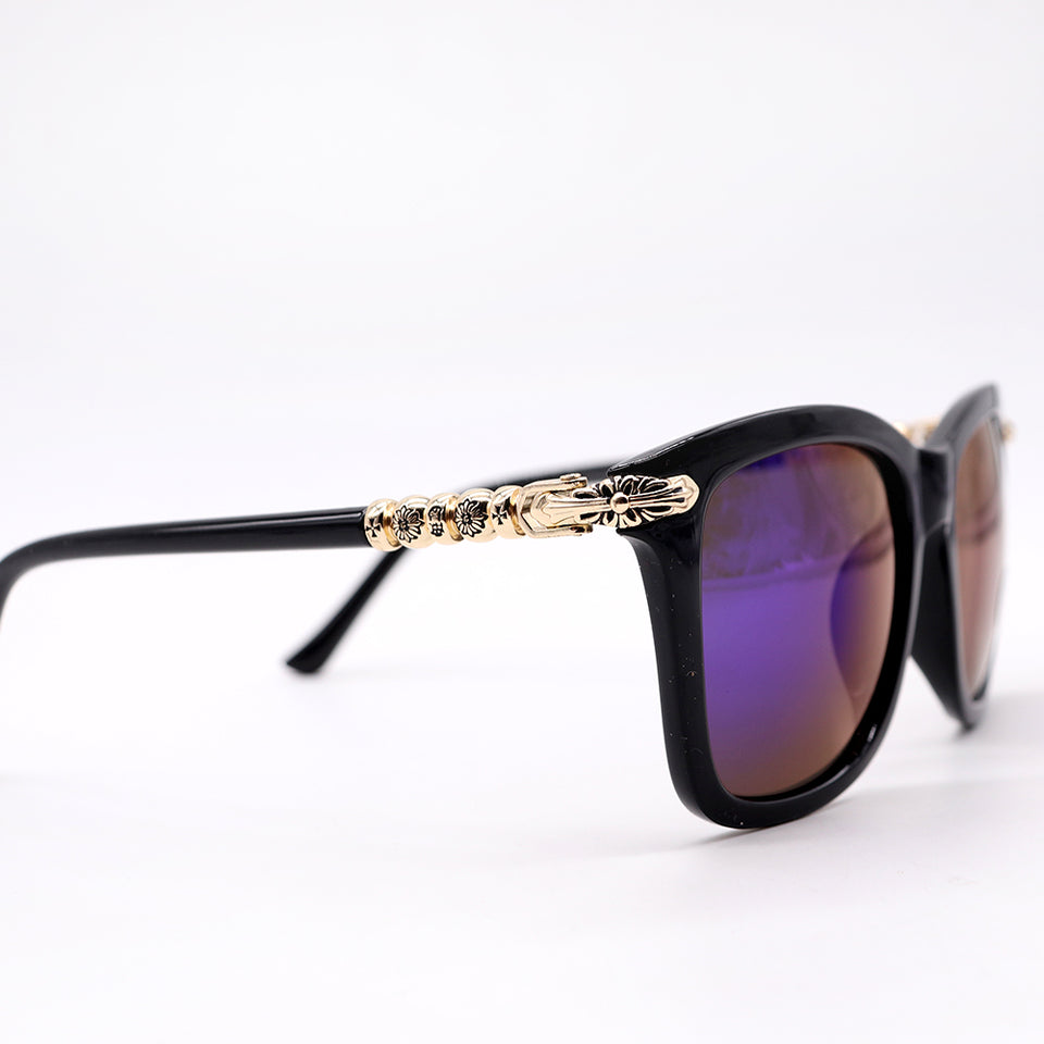 BLACK ARES SQUARED SUNGLASSES (SG-2222)