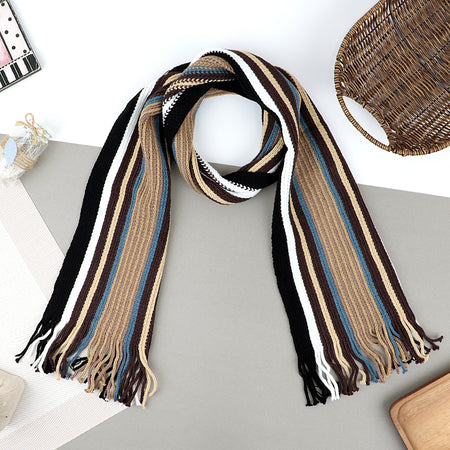 Warm woolen Striped Muffler