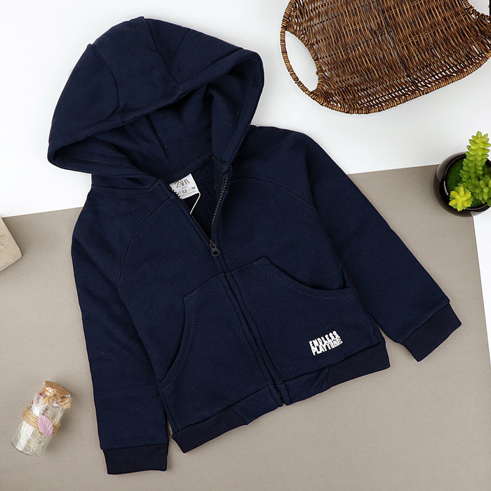 Toddlers Endless Playtime Slogan Zipper Hoodie  (ZA-10227)