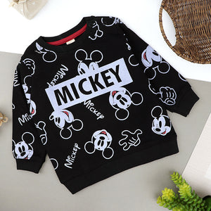 Toddler Kids Mickey All over Printed Sweat shirt  (HM-10088)