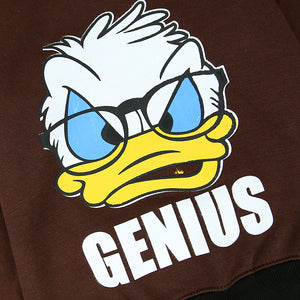 Kids Chocolate Ringer Genius Donald Graphic Fleece Sweatshirt (OF-11217)