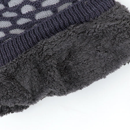 Nelson Fur lined Textured beanie Cap