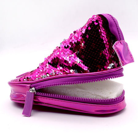 Sneaker Shape Shoes Sequin Decorated pencil case  (GB-5314)