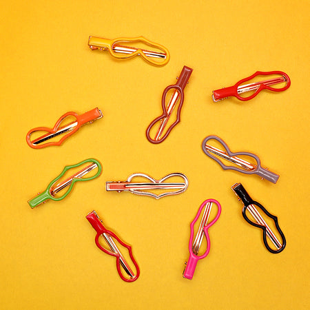 Multi Color Fun shaped Metal Alligator Hair Clips