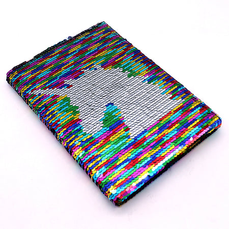Shiny Sequin Unicorn Decorated Notebook