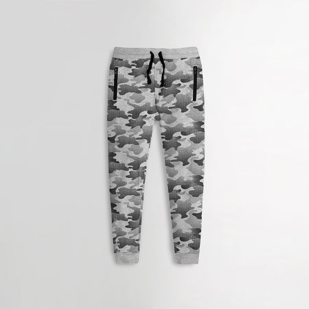 Older Boys Camo Printed Closed Bottom Joggers (XM-10208)