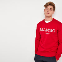 Men Signature Graphic Fleece Sweatshirt