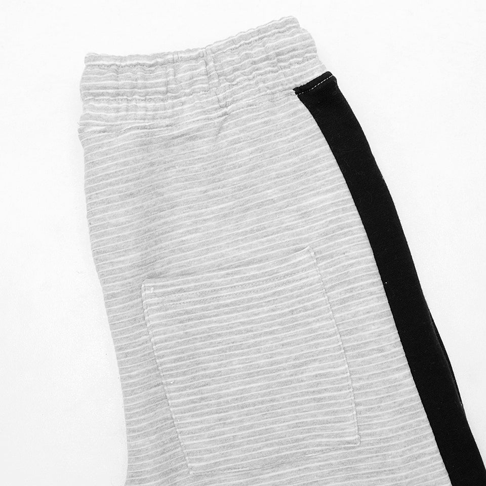 Signature Print Racer Striped Closed Ottoman bottom Joggers  (HO-10239)