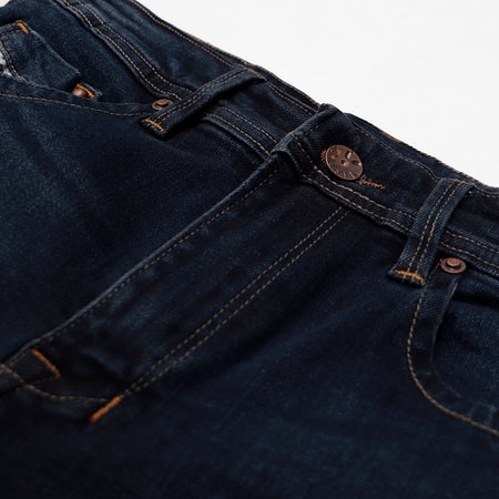 exclusive Navy Rinse Wash Pluto 'slim fit' stretch jeans (DI-11010)