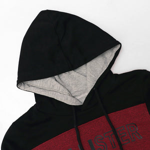 Color block Slim Fit Graphic Pullover Hoodie (HO-10245)