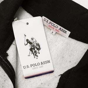 USPA Block Paneled Sleeve Stand Collar Zipper With Signature Print (10247)