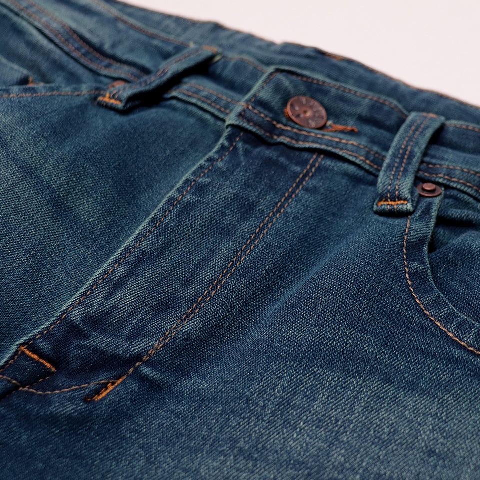 exclusive Sea Blue Hawaii 'slim fit' stretch jeans  (DI-11012)