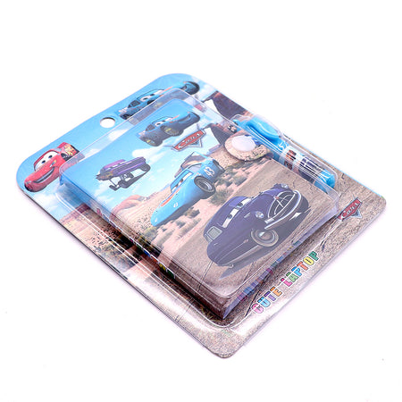 McQueen Cars Printed Diary with Small Pen for Kids  (NB-5362)
