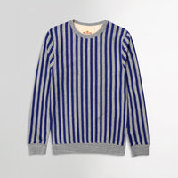 Hlster Men Horizontal Dyed Yarn Striped  Sweatshirt (HO-10241)