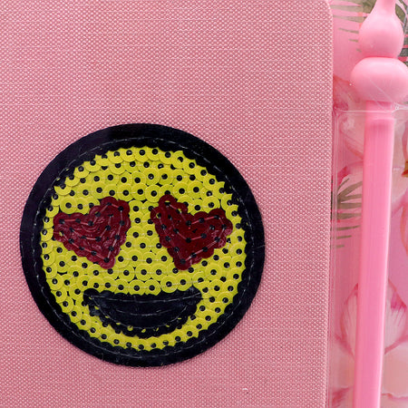 Cute Smiley Stationery Diary Notebook and Gel Pen Journal Set Gifts (NB-5389)