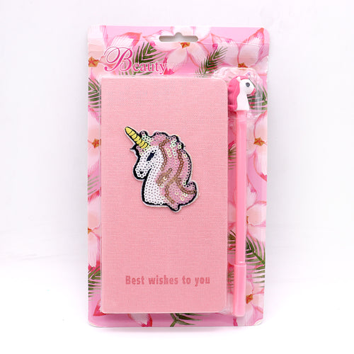 Cute Unicorn Stationery Diary Notebook and Gel Pen Journal Set Gifts (GB-5393)