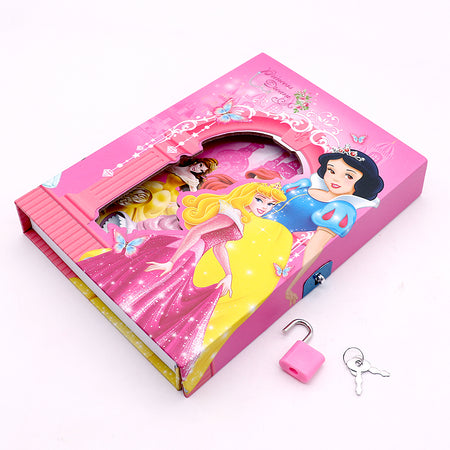 BARBIE DESIGN BIG SIZE PERSONAL LOCK DIARY FOR KIDS  (NB-5388)
