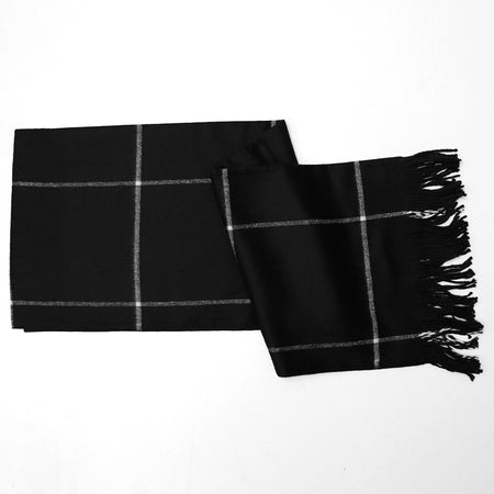 Big Size Checked Unisex woolen Stoles L76XW27 (MF-20838)
