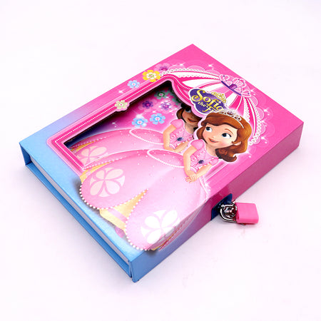 SOFIA DESIGN BIG SIZE PERSONAL LOCK DIARY FOR KIDS (NB-5377)