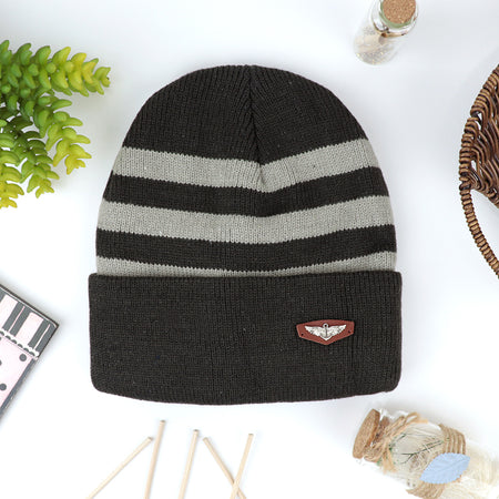 Samba Supreme Quality Fur Lined Striped fitted beanie Cap