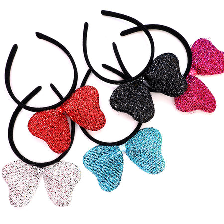 Lurex Decorated  Bow Hairband for Girls