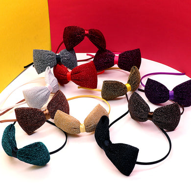 Glitter weaved Bow Hair band for Girls