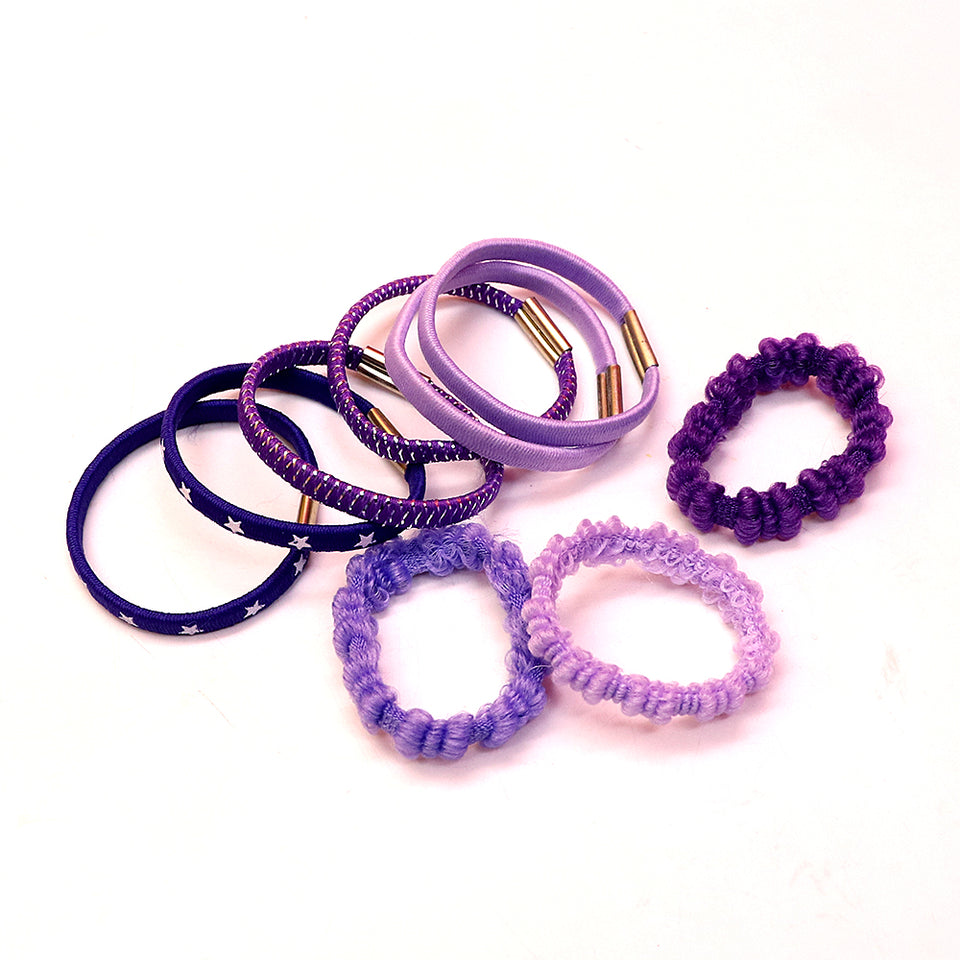 Pack Of 9 High Quality Hair Bobbles Set