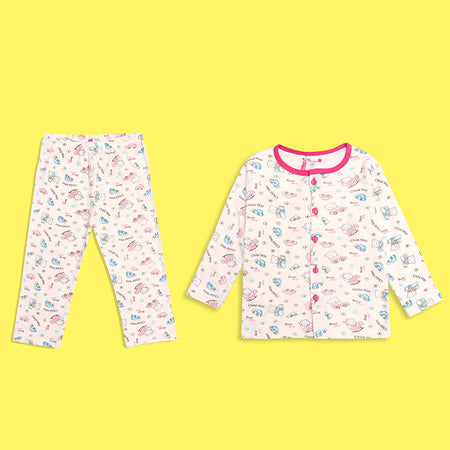 Kids all over Fun  character Printed Jersey Pajama Sets (LB-4318)
