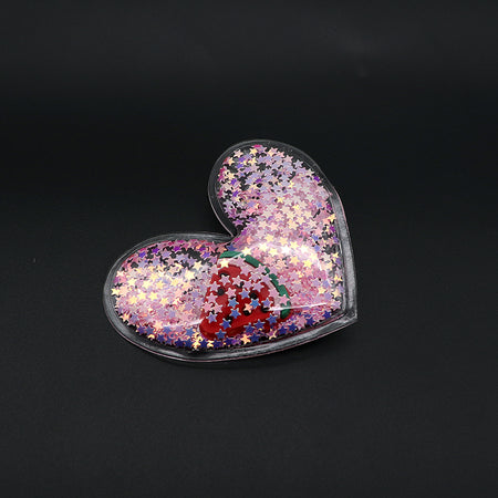 Heart Shaped Sparkle filled Alligator Hair Pins