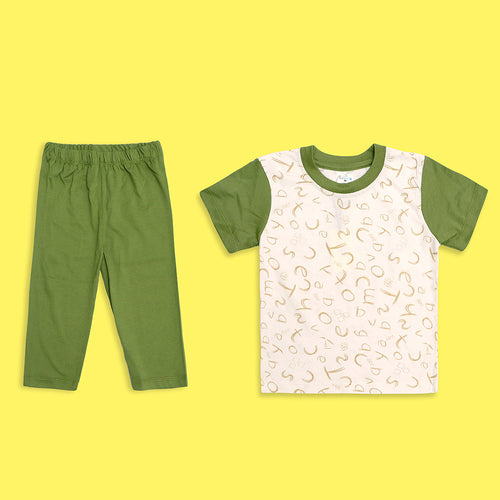 Kids all over Printed Jersey Pajama Sets (LB-4012)