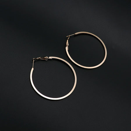 Fashion large golden circle hoop earrings (ER-5454)