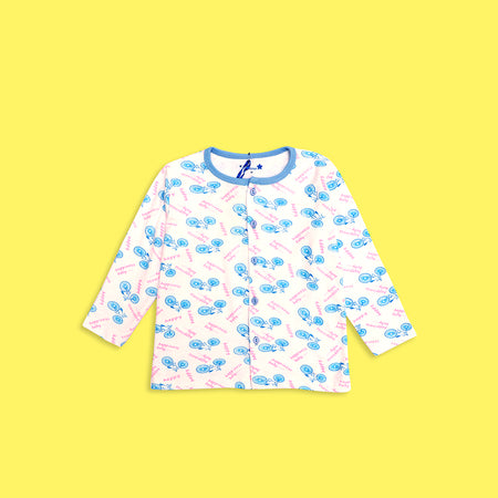 Kids all over Sky Bicycle Printed Jersey Pajama Sets   (LB-4017)