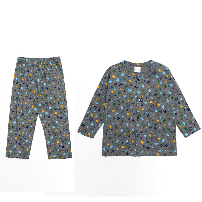 Kids all over Star Printed Jersey Pajama Sets (LB-4018)