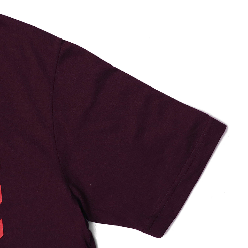 sprng Fild Burgundy Super Soft Durable Graphic Tee Shirt  (SF-5250)