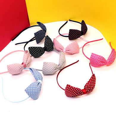 Beautiful doted Matte Bow Hair band