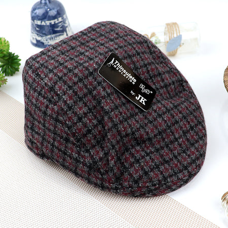 Morris Tweed Woolen Blend Classic Checked Flat Cap