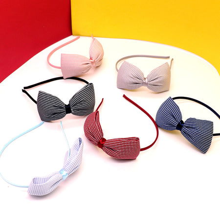 Beautiful patterned Matte Bow Hair band