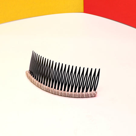 24 Teeth Plastic Comb Hair clip with Fabric Border Decoration for Women and Girls