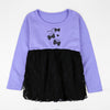 Mni-Minr Tulle Frill Jumper Girls Party Frock with Bow Print (11266)