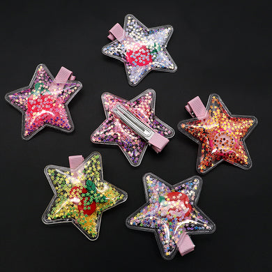 Star Shaped Sparkle filled Alligator Hair Pins