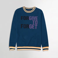 Heavy Fleece Printed Sweatshirt with Contrast Rib Detailing (SW-10189)