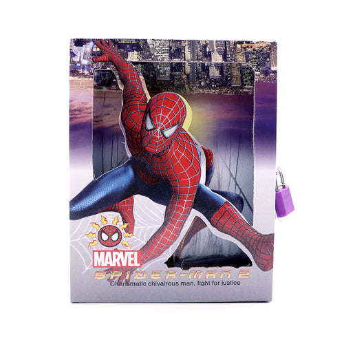 SPIDER MAN DESIGN BIG SIZE PERSONAL LOCK DIARY FOR KIDS  (NB-5380)