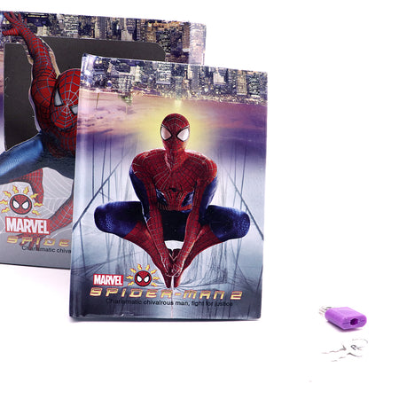 SPIDER MAN DESIGN PERSONAL LOCK DIARY FOR KIDS  (JB-5663)