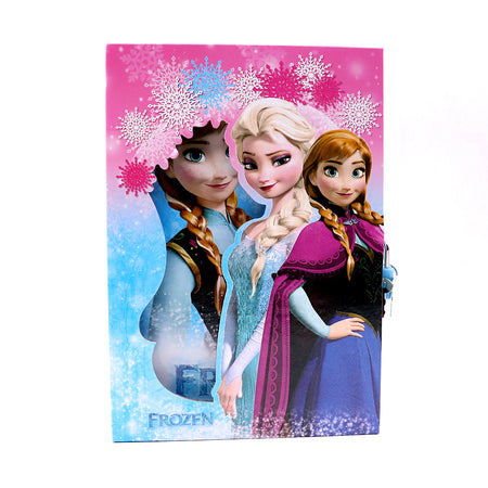 FROZEN MOVIE DESIGN BIG SIZE PERSONAL LOCK DIARY FOR KIDS (NB-5657)