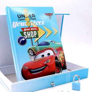 McQueen Car DESIGN BIG SIZE PERSONAL LOCK DIARY FOR KIDS (NB-5652)