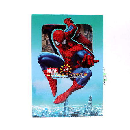 SPIDER MAN DESIGN BIG SIZE PERSONAL LOCK DIARY FOR KIDS  (JB-5664)