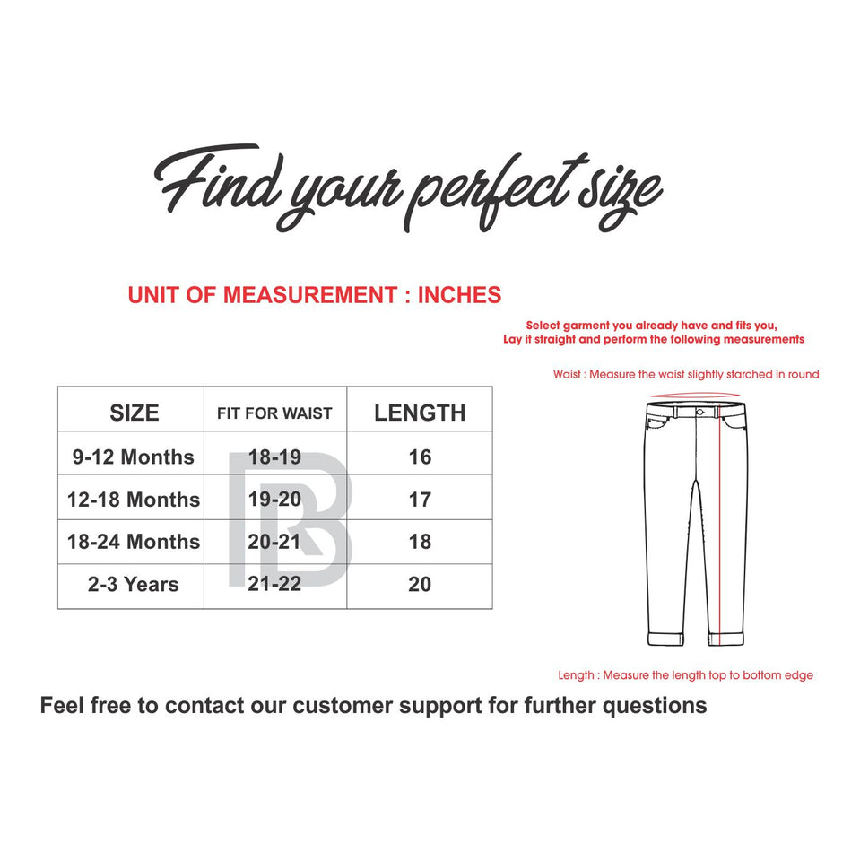 MGO Babies Self Print Slim Fit Jegging Jeans (MA-617)