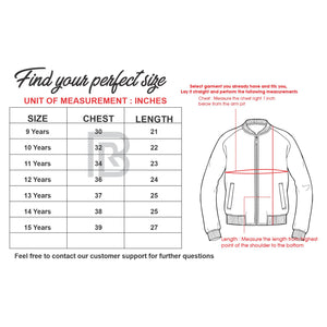 Older Boys Bright Contrast Graphic Stand Collar Jacket (LS-10225)